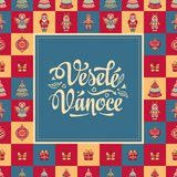 Vesele vanoce -  greeting cards. Xmas in the Czech Republic. Royalty Free Stock Photography