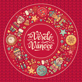 Vesele vanoce -  greeting cards. Xmas in the Czech Republic. Royalty Free Stock Photos