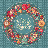Vesele vanoce -  greeting cards. Xmas in the Czech Republic. Royalty Free Stock Image