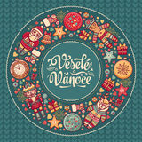Vesele vanoce -  greeting cards. Xmas in the Czech Republic. Stock Images