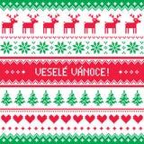 Vesele Vanoce greetings card - Merry Christmas in Czech Stock Photos