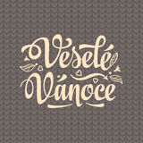 Vesele vanoce. Lettering text for greeting cards. Xmas in the Czech Republic. Royalty Free Stock Image