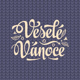 Vesele vanoce. Lettering text for greeting cards. Xmas in the Czech Republic. Royalty Free Stock Images