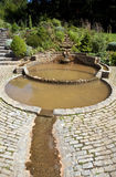 The Vesica Pool in the Chalice Well Gardens Stock Photos