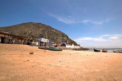 Vesique strand i norr Peru Royaltyfria Bilder