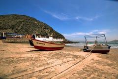 Vesique strand i norr Peru Royaltyfria Foton