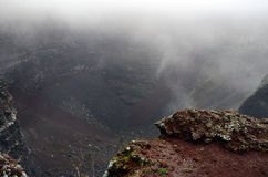 vesivius火山的火山口看法在南意大利 库存照片