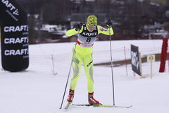 Vesna Fabjan - slovenian cross country skier Royalty Free Stock Images