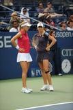 Vesnina et Kirilenko aux USA ouvrent 2009 (17) Photos libres de droits