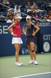 Vesnina and Kirilenko at US Open 2009 (17) Royalty Free Stock Photos