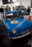 Vespa 400 minicar at Motorshow in Bruxelles Royalty Free Stock Photo