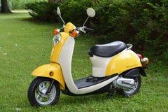 Vespa amarilla de Honda Fotos de archivo libres de regalías