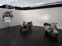 Vespa de la moto del coche del sogno de Ruote DA foto de archivo libre de regalías