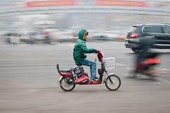Vespa de motor en Pekín Imagen de archivo
