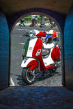 Vespa 50 flag italia Stock Images