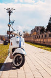A Vespa GTS 300 Super on the streets in Bucharest Stock Photos