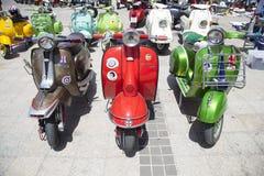 Vespa motorcycles Royalty Free Stock Photography