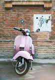 Vespa near an old wall Royalty Free Stock Photography