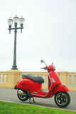 VESPA at the ocean Royalty Free Stock Photo