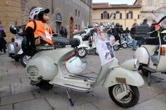 Vespa Piaggio, ралли Vespa в Флоренсе Стоковые Фото