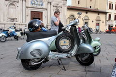 Vespa Piaggio, Vespa Rally in Florence Royalty Free Stock Images