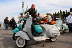 Vespa Piaggio, Vespa Rally in Florence Stock Photos