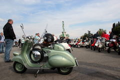 Vespa Piaggio, Vespa Rally in Florence Stock Images