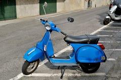 Vespa primavera 125 px iconic Italian scooter. Genova, Italy - August 18, 2015: vespa 125 PX iconic Italian scooter Stock Image