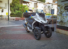 Vespa Quadro de la negro-plata de la policía 350 S3 Foto de archivo