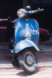 Vespa Scooter laden with goods in Chinatown Bangkok Royalty Free Stock Photography
