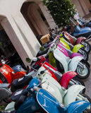Vespa scooters vintage Stock Image