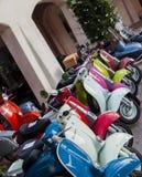 Vespa scooters vintage Stock Image