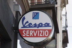 Vespa service station in Amsterdam Stock Images