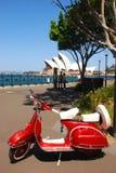 Vespa in Sydney Lizenzfreies Stockbild