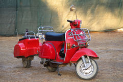 Vespa with trailer Royalty Free Stock Image