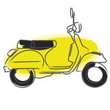 Vespa vector. Illustration of retro style scooter isolated on white background + vector EPS file Royalty Free Stock Photography