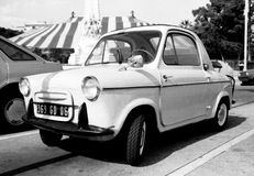 Vespa 400 vintage micro car Royalty Free Stock Images