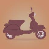 Vespa Vintage vector. Illustrations of retro italian scooter + vector eps file royalty free illustration