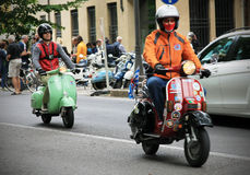 Vespa World Days 2014, Mantova, Italy Stock Photos