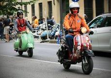 Vespa World Days 2014, Mantova, Italy stock photos