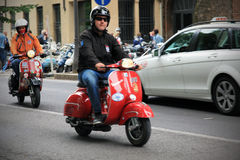 Vespa World Days 2014, Mantova, Italy Stock Photography