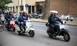 Vespa World Days 2014, Mantova, Italy Royalty Free Stock Photography