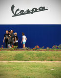 Vespa World Days 2014, Mantova, Italy Royalty Free Stock Photo