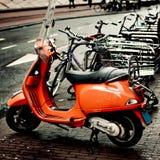 Vespamotorfiets Stock Foto