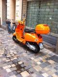Vespasparkcykel Royaltyfri Bild