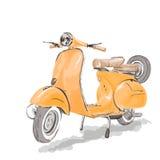 Vespasparkcykel Fotografering för Bildbyråer