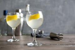 Vesper Martini Cocktail royalty free stock photo