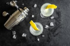 Vesper Martini Cocktail royalty free stock images