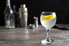 Vesper Martini Cocktail royalty free stock photography