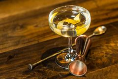 Vesper Martini 007. The Vesper or Vesper Martini is a cocktail that was originally made of gin, vodka, and Kina Lillet Royalty Free Stock Photos